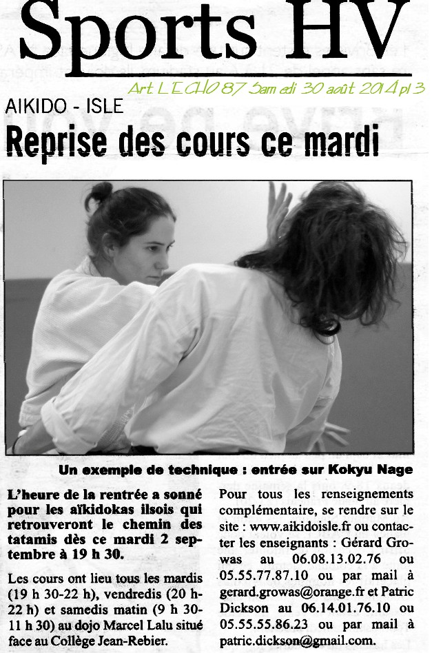 140830 Article l'Echo Reprise saison d'Aikido.jpg - 199,04 kB
